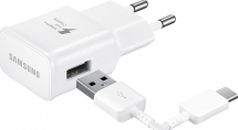 USB-C fast charger (15W) + cable White