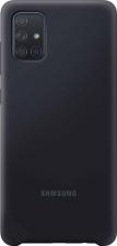 Samsung silicone cover - black - for Samsung Galaxy A71