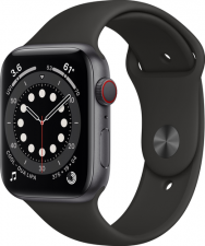 Watch Series 6 Cellular 44mm Space Gray Black Sport Band