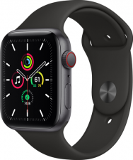 Watch SE Cellular 44mm Space Gray Black Sport Band