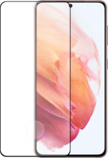 Azuri tempered glass - black frame - for Samsung Galaxy S21