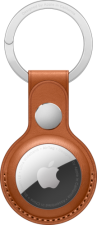 APPLE AirTag Leather Key Ring - Saddle Brown